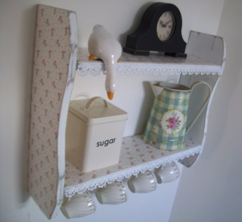 54cm x 45cm Shabby Chic White Small Roses Shelves with Lace Trim & Cup Hooks, Spice Rack, kitchen Shelves, Kitchen Furniture 54cm x 45cm Shabby Chic White Small Roses Shelves with Lace Trim & Cup Hooks, Spice Rack, kitchen Shelves, Kitchen Furniture 54cm x 45cm Shabby Chic White Small Roses Shelves with Lace Trim Cup Hooks Spice Rack kitchen Shelves Kitchen Furniture 0
