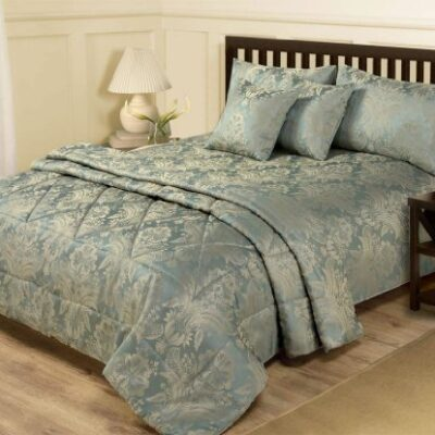 6 PIECE JACQUARD BLUE & GOLD BEDDING - DOUBLE DUVET SET & BEDSPREAD THROW DOUBLE DUVET COVER & THROW SET – 6 PIECE BLUE & GOLD JACQUARD 6 PIECE JACQUARD BLUE GOLD BEDDING DOUBLE DUVET SET BEDSPREAD THROW 0 400x400