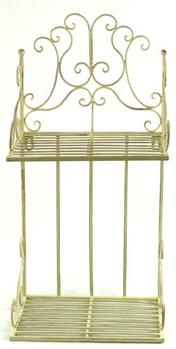 Antique Cream 2 Shelf Wall Rack Antique Cream 2 Shelf Wall Rack Antique Cream 2 Shelf Wall Rack 0
