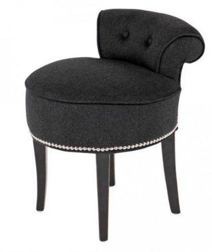 Casa-Padrino-Design-stool-chair-made-of-solid-oak-Dark-Grey-Black ...