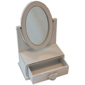 Childrens Small Aged Look Dressing Table Mirror with Jewellery Drawer (H23cm) Childrens Small Aged Look Dressing Table Mirror with Jewellery Drawer (H23cm) Childrens Small Aged Look Dressing Table Mirror with Jewellery Drawer H23cm 0 300x300