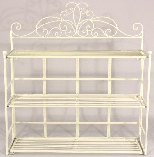 Cream Scroll Design 3 Tier Shelf Unit