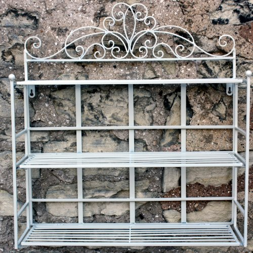 Cream Scroll Design 3 Tier Shelf Unit