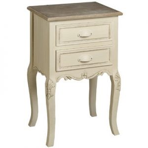 French Country Cream Dressing Bedside Table Hill Interiors Country Lamp Table, Brown/Antique Cream French Country Cream Dressing Bedside Table 0 300x300