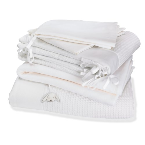 Izziwotnot Gift Cot Bed Luxury Bedding Bale (White, 5 Pieces) Izziwotnot Gift White Cotbed 5 piece Bedding Bale Izziwotnot Gift Cot Bed Luxury Bedding Bale White 5 Pieces 0