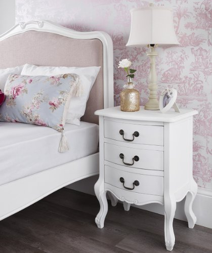 juliette shabby chic antique white 5pc bedroom furniture