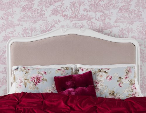 Juliette Shabby Chic Antique White Upholstered Double Bed