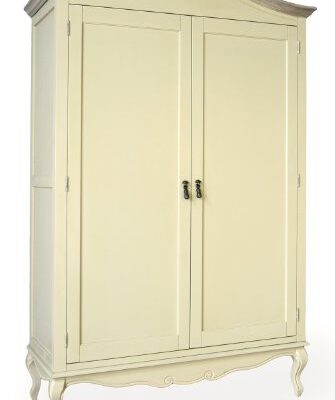Juliette Shabby Chic Champagne Double Wardrobe Juliette Shabby Chic Champagne Double Wardrobe, Stunning large cream wardrobe with shelf and hanging rail Juliette Shabby Chic Champagne Double Wardrobe 0 335x400