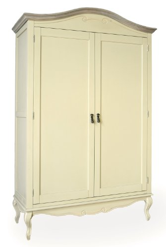 Juliette Shabby Chic Champagne Double Wardrobe Juliette Shabby Chic Champagne Double Wardrobe, Stunning large cream wardrobe with shelf and hanging rail Juliette Shabby Chic Champagne Double Wardrobe 0