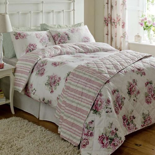 Mia Vintage Rose Print Duvet Set Luxury Bedding Set 300