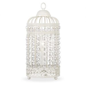 Ornate Metal Framed Birdcage Table Lamp in a Shabby Chic Finish Ornate Cream Metal Framed Birdcage Table Lamp with Jewel Droplets Light Shade Ornate Metal Framed Birdcage Table Lamp in a Shabby Chic Finish 0 300x300