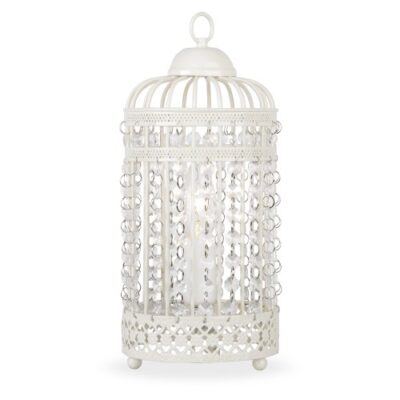 Ornate Metal Framed Birdcage Table Lamp in a Shabby Chic Finish Ornate Cream Metal Framed Birdcage Table Lamp with Jewel Droplets Light Shade Ornate Metal Framed Birdcage Table Lamp in a Shabby Chic Finish 0 400x400
