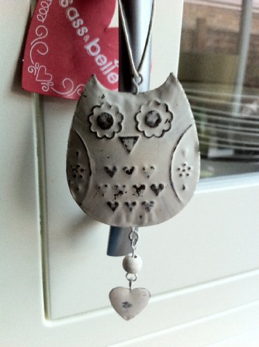 Owl Hanging Decoration Cream / Off-white Metal Shabby/Distressed Finish Rustic Country Chic Owl Hanging Decoration Cream / Off-white Metal Shabby/Distressed Finish Rustic Country Chic Owl Hanging Decoration Cream Off white Metal ShabbyDistressed Finish Rustic Country Chic 0