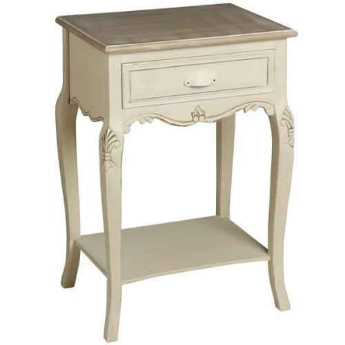 Shabby Chic French Style Country 1 Drawer Bedside Table