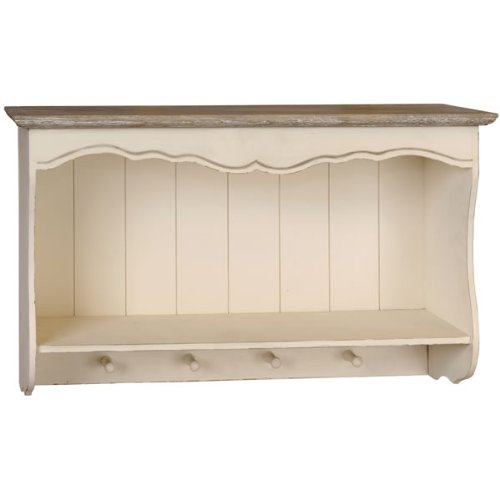 Shabby Chic French Style Country Wall Shelf Unit With
