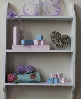 Shabby chic 3 tier shelf white Shabby chic 3 tier shelf white 24″ Shabby chic 3 tier shelf white 0 327x400