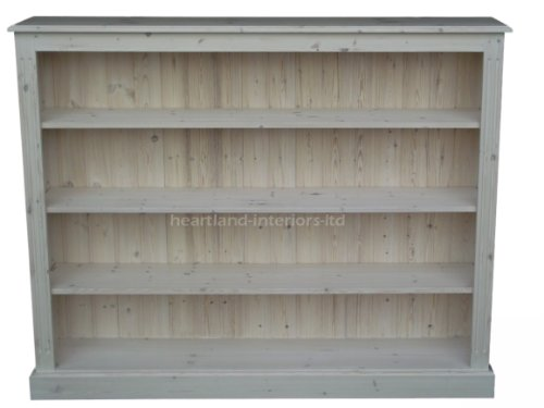 Solid Pine Bookcase 4ft X 5ft Handcrafted Amp White Washed