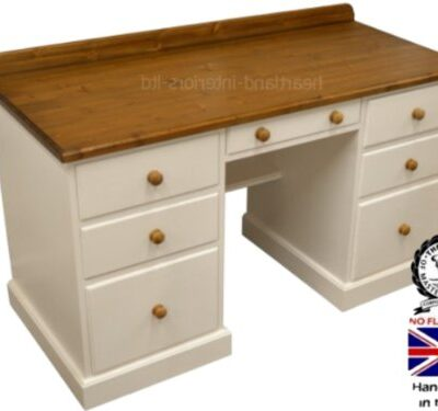 Solid Pine Desk, Twin Pedestal Handcrafted & Painted Contrasting Compact Writing Desk, Bureau with Filing Drawer. No flat packs, No assembly Solid Pine Desk, Twin Pedestal Handcrafted & Painted Contrasting Compact Writing Desk, Bureau with Filing Drawer. No flat packs, No assembly (TPFD2) Solid Pine Desk Twin Pedestal Handcrafted Painted Contrasting Compact Writing Desk Bureau with Filing Drawer