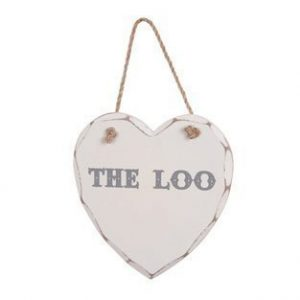 The Loo Wooden Heart Plaque The Loo Wooden Heart Plaque The Loo Wooden Heart Plaque 0 300x300