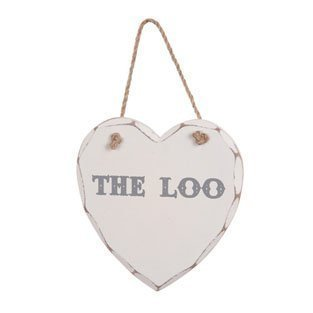 The Loo Wooden Heart Plaque The Loo Wooden Heart Plaque The Loo Wooden Heart Plaque 0