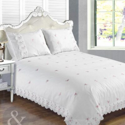 VINTAGE LACE Luxury Cotton Blend Embroidered Duvet Quilt Cover Bedding Bed Set Broderie Anglaise - White King Size ( kingsize ) Just Contempo Broderie Anglaise Duvet Cover Set, King, White VINTAGE LACE Luxury Cotton Blend Embroidered Duvet Quilt Cover Bedding Bed Set Broderie Anglaise White King Size kingsize 0 400x400