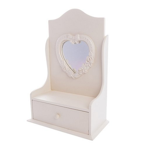 West5Products Childrens Cream Jewellery Stand in Design of Dressing Table Mirror with Jewellery Drawer West5Products Childrens Cream Jewellery Stand in Design of Dressing Table Mirror with Jewellery Drawer West5Products Childrens Cream Jewellery Stand in Design of Dressing Table Mirror with Jewellery Drawer 0