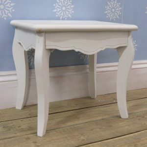 White Dressing Table Stool From The Sweetheart Range
