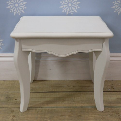 White dressing table stool from the sweetheart range for Range dressing table