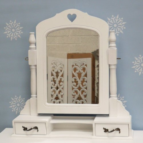 White Vanity Mirror And Drawers From The Sweetheart Range