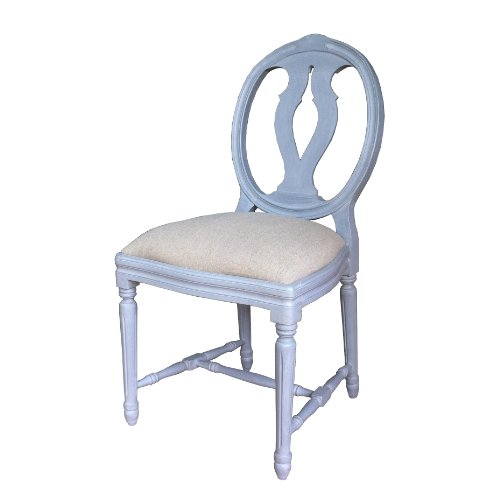 A Shabby Chic French Style Dining Table Chairs In Grey Finish Upholstery In N