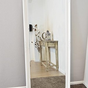 Large white bevelled full length dressing wall mirror 5ft6 for White full length wall mirror