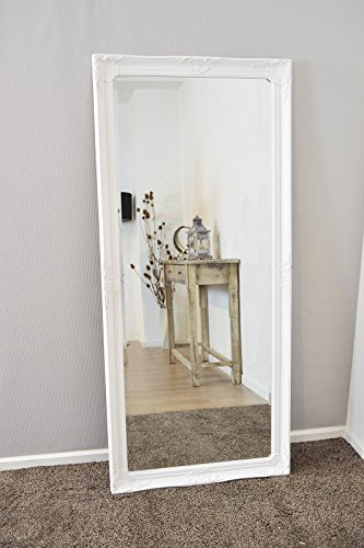 Large white bevelled full length dressing wall mirror 5ft6 for Large white mirror