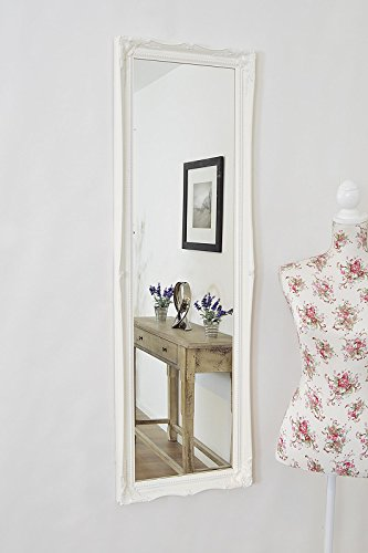 Matt White Full Length Shabby Chic Antique Style
