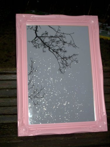 Pink Shabby Chic Antique Style Rectangular Wall Mirror