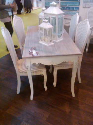 shabby chic french style country round dining table other styles