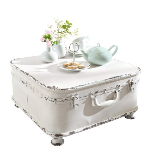Coffee Table Side Table Suitcase, with Storage, Shabby