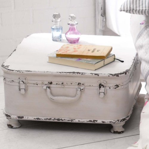 Coffee table side table suitcase with storage shabby for Diy suitcase table