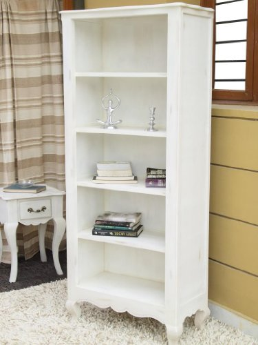 white bookcase with legs chic shabby french style distressed