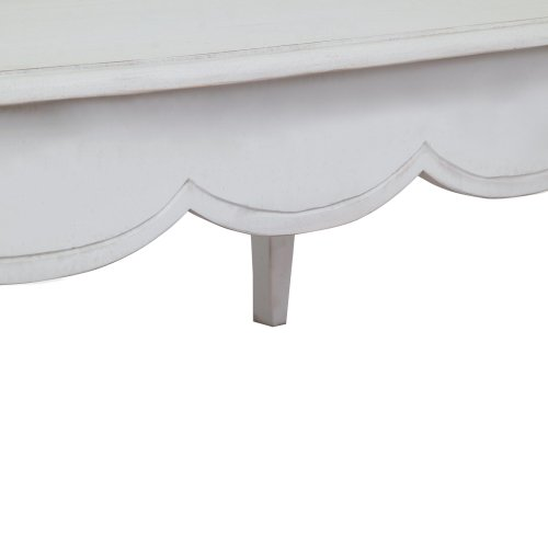 homescapes vintage coffee table with cabriole legs new chic shabby french style distressed white