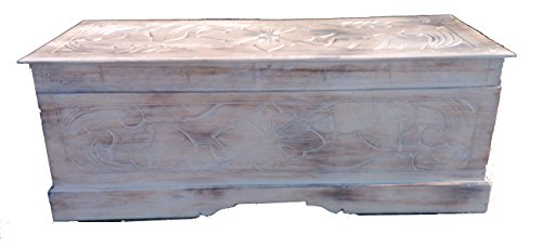 LARGE HAND CARVED WOODEN CHEST /OTTOMAN / COFFEE TABLE/STORAGE.FAIRTRADE.SHABBY CHIC LARGE HAND CARVED WOODEN CHEST /OTTOMAN / COFFEE TABLE/STORAGE.FAIRTRADE.SHABBY CHIC LARGE HAND CARVED WOODEN CHEST OTTOMAN COFFEE TABLESTORAGEFAIRTRADESHABBY CHIC 0