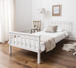 Single Bed in White 3ft Single Bed Wooden Frame WHITE Dorset Single Bed in White 3ft Single Bed Wooden Frame WHITE Dorset 0 300x269