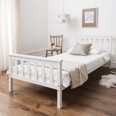 Single Bed in White 3ft Single Bed Wooden Frame WHITE Dorset Single Bed in White 3ft Single Bed Wooden Frame WHITE Dorset 0 400x400