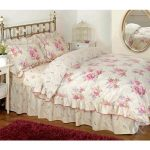 Vintage Floral Frilled Duvet Cover - Cream Beige Pink Bedding Set + Pillow Cases Just Contempo Floral Frilled Duvet Cover Set, Double, Pink VINTAGE FLORAL ROSE DUVET COVER Cotton Blend Cream Beige Pink Bedding Bed Set Pink Cream Beige Double Duvet Cover shabby chic 0 150x150