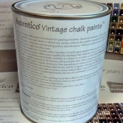 Rose Vintage Furniture Paint 100ml ROSE Autentico Vintage Furniture Paint – 2.5L Chalk Grey Autentico Vintage Furniture Paint 100ml 0 2 400x400