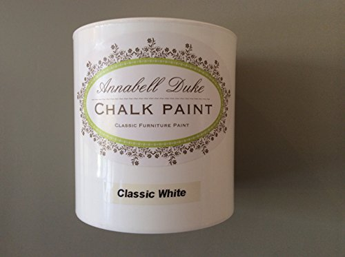 """Chalk white"" Shabby Chic furniture paint by Annabell Duke 1 litre RRP £18.95 ""Chalk white"" Shabby Chic furniture paint by Annabell Duke 1 litre RRP £18.95 Chalk white Shabby Chic furniture paint by Annabell Duke 1 litre RRP 1895 0"