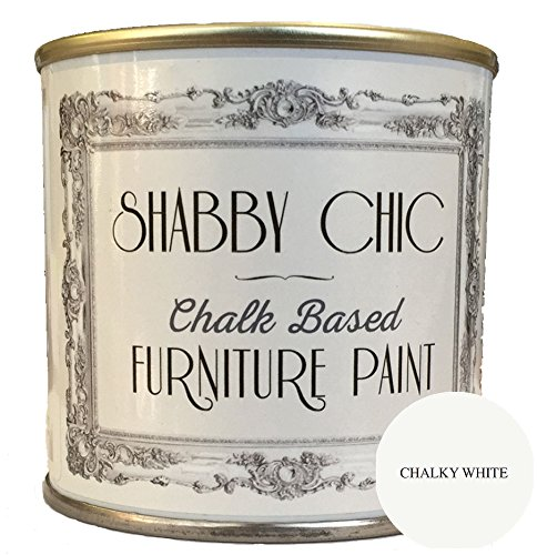 Chalky White Chalk Based Furniture Paint great for creating a shabby chic style. 250ml Chalky White Chalk Based Furniture Paint great for creating a shabby chic style. 250ml Chalky White Furniture Chalk Paint great for creating a shabby chic style 125ml 0