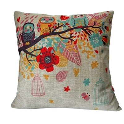 "Cotton Linen Square Decorative Throw Pillow Case Cushion Cover Owls with Birdcage 18 ""X18 "" Cotton Linen Square Decorative Throw Pillow Case Cushion Cover Owls with Birdcage 18 ""X18 "" Cotton Linen Square Decorative Throw Pillow Case Cushion Cover Owls with Birdcage 18 X18 0 400x400"