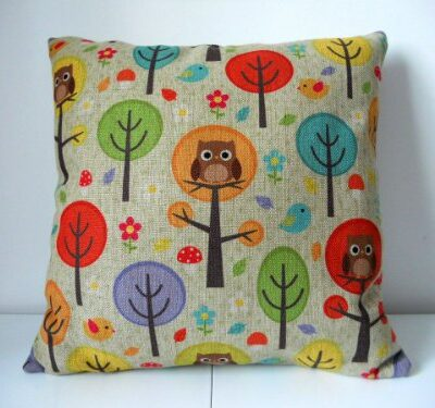 """Cotton Linen Square Decorative Throw Pillow Case Cushion Cover Owls with Trees 18 """"X18 """" Cotton Linen Square Decorative Throw Pillow Case Cushion Cover Owls with Trees 18 """"X18 """" Cotton Linen Square Decorative Throw Pillow Case Cushion Cover Owls with Trees 18 X18 0 400x375"""