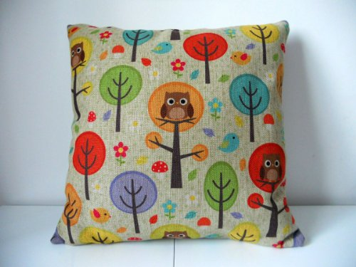 "Cotton Linen Square Decorative Throw Pillow Case Cushion Cover Owls with Trees 18 ""X18 "" Cotton Linen Square Decorative Throw Pillow Case Cushion Cover Owls with Trees 18 ""X18 "" Cotton Linen Square Decorative Throw Pillow Case Cushion Cover Owls with Trees 18 X18 0"