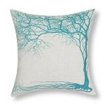 Euphoria Home Decorative Cushion Covers Pillows Shell Cotton Linen Blend Vintage Big Old Tree Teal Color 45 X 45cm CaliTime Cushion Cover Throw Pillow Shell Vintage Big Old Tree 45 X 45cm Teal Euphoria Home Decorative Cushion Covers Pillows Shell Cotton Linen Blend Big Old Tree Teal 18 X 18 0 150x150